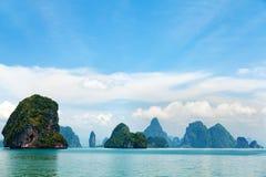 Archipel de Phang Nga près de Phuket, Thaïlande Photographie stock libre de droits