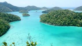 Archipel de Wayag, Raja Ampat, Papouasie Images stock