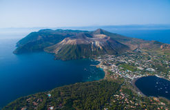 Archipel des îles éoliennes en Sicile Images stock