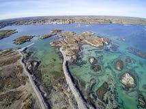 Archipel in Norwegen-Vogelperspektive, Brummenansicht Stockfoto