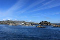 Archipel van Gothenburg, Zweden, overzees, oceaanachtergrond, Atlantische Oceaan, Scandinavië Stock Afbeelding