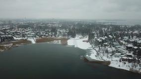 Archipel von Finnland wartet, dass der Winter kommt stock video