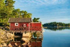 Archipelag na morza bałtyckiego wybrzeżu w Szwecja zdjęcia stock
