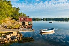 Archipelag na morza bałtyckiego wybrzeżu w Szwecja obraz stock