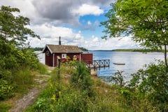 Archipelag na morza bałtyckiego wybrzeżu w Szwecja zdjęcie stock