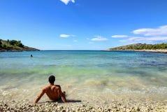 Archipelag - piaskowata plaża Fotografia Stock