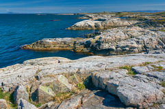 Archipelag view of the coastal granite mountains . Royalty Free Stock Image