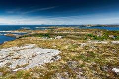 Archipelagmening van Hitra aan Fosen-eilanden, gebied Trondelag Stock Afbeeldingen