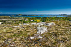 Archipelagmening van Hitra-eiland aan Snillfjord Stock Fotografie