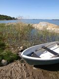 Archipelago. A rowing boat in Turku Archipelago Royalty Free Stock Image