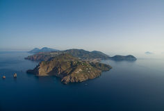 Archipelago of the Aeolian Islands in Sicily Royalty Free Stock Images