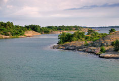 Archipelago of Aland, Finland. Typical landscape of the archipelago of Aland, a marine landscape off the coast of Finland stock images