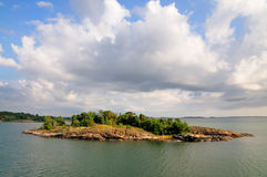 Archipelago of Aland, Finland. Typical landscape of the archipelago of Aland, a marine landscape off the coast of Finland royalty free stock photos