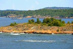 Archipelago of Aland Islands. Seascape in archipelago of Aland Islands in midsummer Stock Images