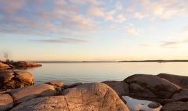 Archipelago in autumn. Stock Photo