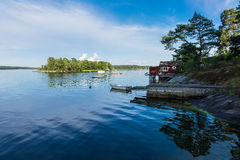 Archipelago on the Baltic Sea coast Stock Images