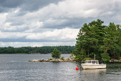 Archipelago on the Baltic Sea coast in Sweden Stock Images