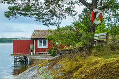 Archipelago on the Baltic Sea coast in Sweden Royalty Free Stock Images