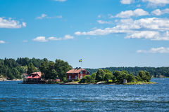 Archipelago on the Baltic Sea coast in Sweden Royalty Free Stock Photos