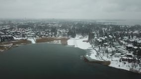 Archipelago of Finland is waiting the winter to come stock video