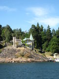 Archipelago house. A house in Stockholm archipelago stock images