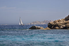 Archipelago of La Maddalena, Sardinia. Sailing in the waters of the archipelago of La Maddalena Royalty Free Stock Photography