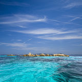 Archipelago of La Maddalena, Sardinia. The turquoise color and transparency of the sea around the island of La Maddalena Royalty Free Stock Images
