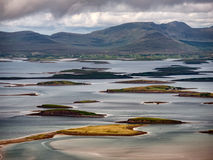 The archipelago near Westport from the road to Croagh Patrick, I Royalty Free Stock Photos