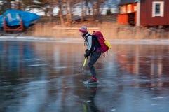 Archipelago skating Royalty Free Stock Image