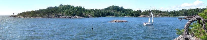 Archipelago. Typical rocky Scandinavian archipelago scenery stock image
