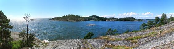 Archipelago. Typical rocky Scandinavian archipelago scenery stock images