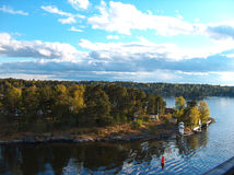 Archipelago. View of stockholm archipelago on a cruise royalty free stock photos