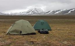 archipelagu Svalbard namioty tundrowi Obraz Stock