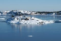 Archipiélago de las islas en el mar Báltico Foto de archivo