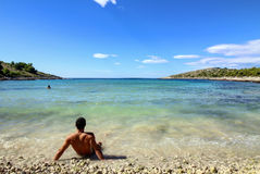 Archipiélago - playa arenosa Fotografía de archivo