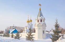 Церковь Archistrategos Mikhail в Новосибирске стоковая фотография