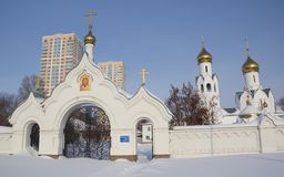 Archistrategos Mikhail kościół w Novosibirsk Rosja fotografia stock