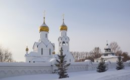 Archistrategos Mikhail kościół w Novosibirsk Rosja obraz royalty free
