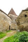 Archita średniowieczny izolujący warowny kościół, Transylvania, Rumunia fotografia stock