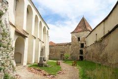 Archita średniowieczny izolujący warowny kościół, Transylvania, Rumunia obraz stock