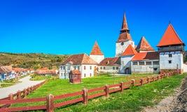Archita, Румыния - средневековая церковь-крепость в Трансильвании стоковые фото