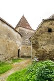 Archita medieval double-walled fortified church, Transylvania, Romania. Archita medieval church courtyard protected by fortified double walls and protection Stock Photography