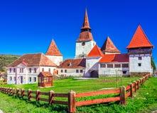 Archita, Romania - Medieval fortified church in Transylvania royalty free stock photos