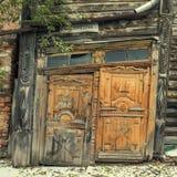 Architechture de madeira de Sibéria Imagem de Stock Royalty Free