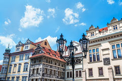Architechture of Prague. View on architectural ensemble of Prague streets Stock Image