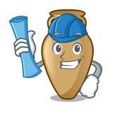 Architect amphora character cartoon style. Vector illustration Stock Illustration