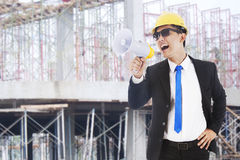 Free Architect Announcing Royalty Free Stock Photo - 24688145