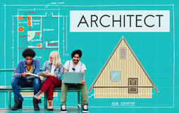 Architect Architecture Design Infrastructure Construction Concept royalty free stock photos