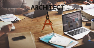 Architect Architecture Design Infrastructure Construction Concep Stock Photos