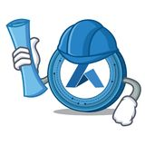 Architect Ardor coin character cartoon. Vector illustration Stock Photo